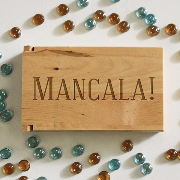 "Personalized Engraved Mancala Set - ""Mancala!"""