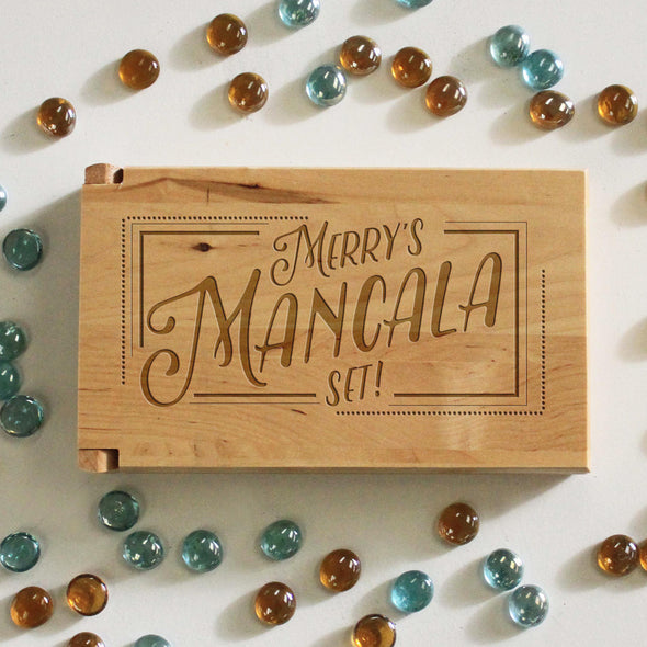 "Personalized Engraved Mancala Set - ""Merry's Mancala Set"""