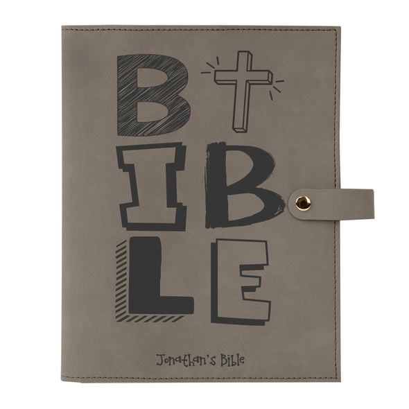 Personalized Bible Cover, Kid's Bible, BIBLE, Snap Cover, Custom Bible Cover, Customized Bible Cover, Engraved Bible Cover, Inspirational Bible Cover