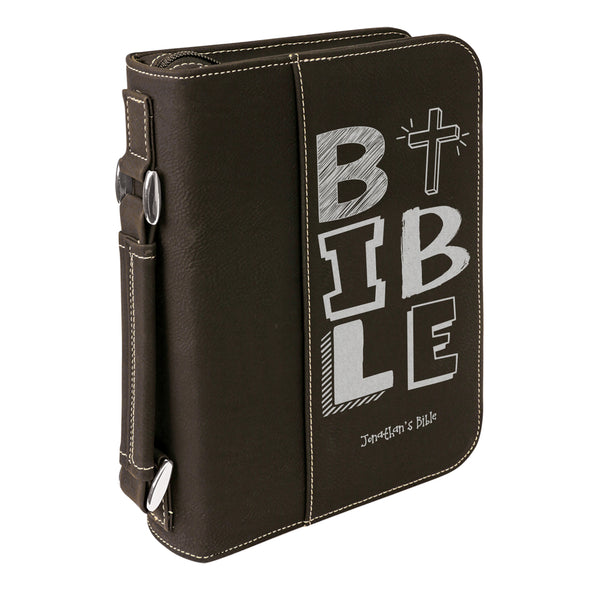 Personalized Bible Case, BIBLE, Kids Bible Cover,  Zip Cover, Custom Bible Cover,  Customized Bible Cover, Engraved Bible Cover, Bible Case, Inspirational Bible Cover, Scripture Bible Case