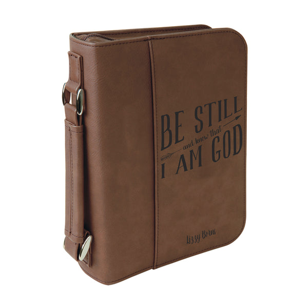 Personalized Bible Case, Be Still and Know that I Am God, Zip Cover, Custom Bible Cover,  Customized Bible Cover, Engraved Bible Cover, Bible Case, Inspirational Bible Cover, Scripture Bible Case