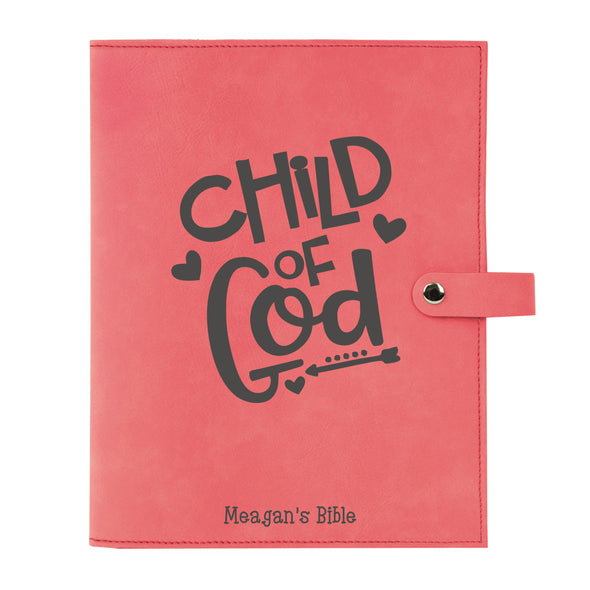 Personalized Child of God Bible Cover for Girl, Kid's Bible, Snap Cover, Custom Bible Cover, Customized Bible Cover, Engraved Bible Cover, Inspirational Bible Cover