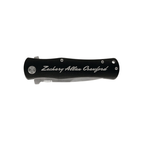 "Custom Engraved Knife, Groomsman Gift, ""Zachary Allan Crawford"""