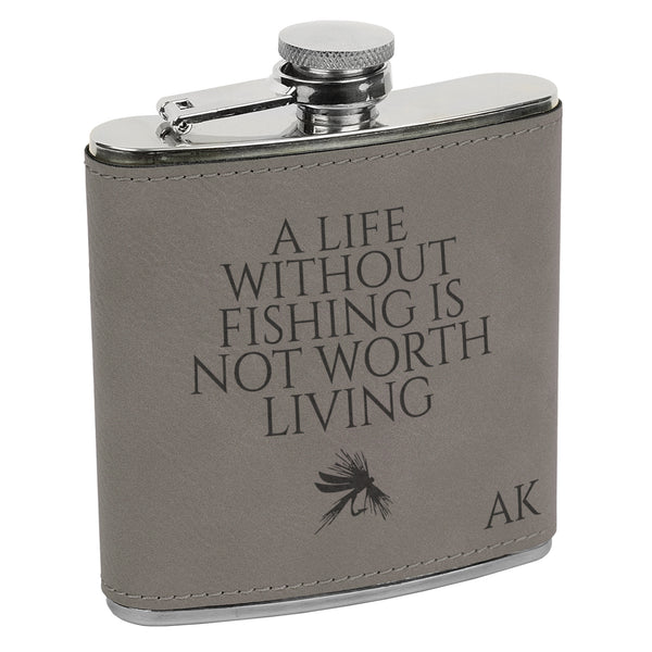 Life Without Fishing Flask, Fisherman Flask, Flask for Fishing, Fishing Flask, Custom Flask, Personalized Flask