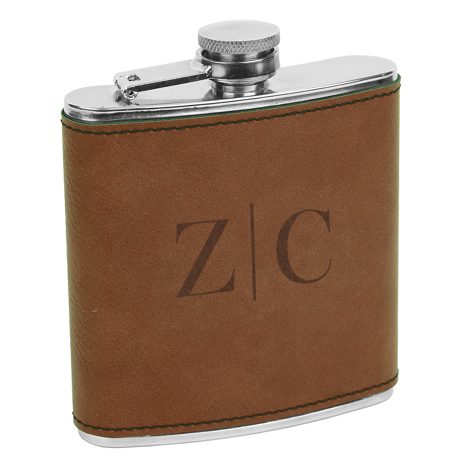 Classic Initial Flask Custom Engraved Flask With Initials Custom Flask Personalized Flask