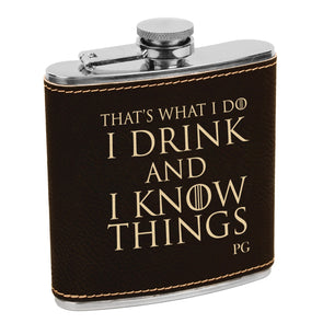 Game of Thrones Flask, Custom Engraved Flask with Initials, Custom Flask, Personalized Flask