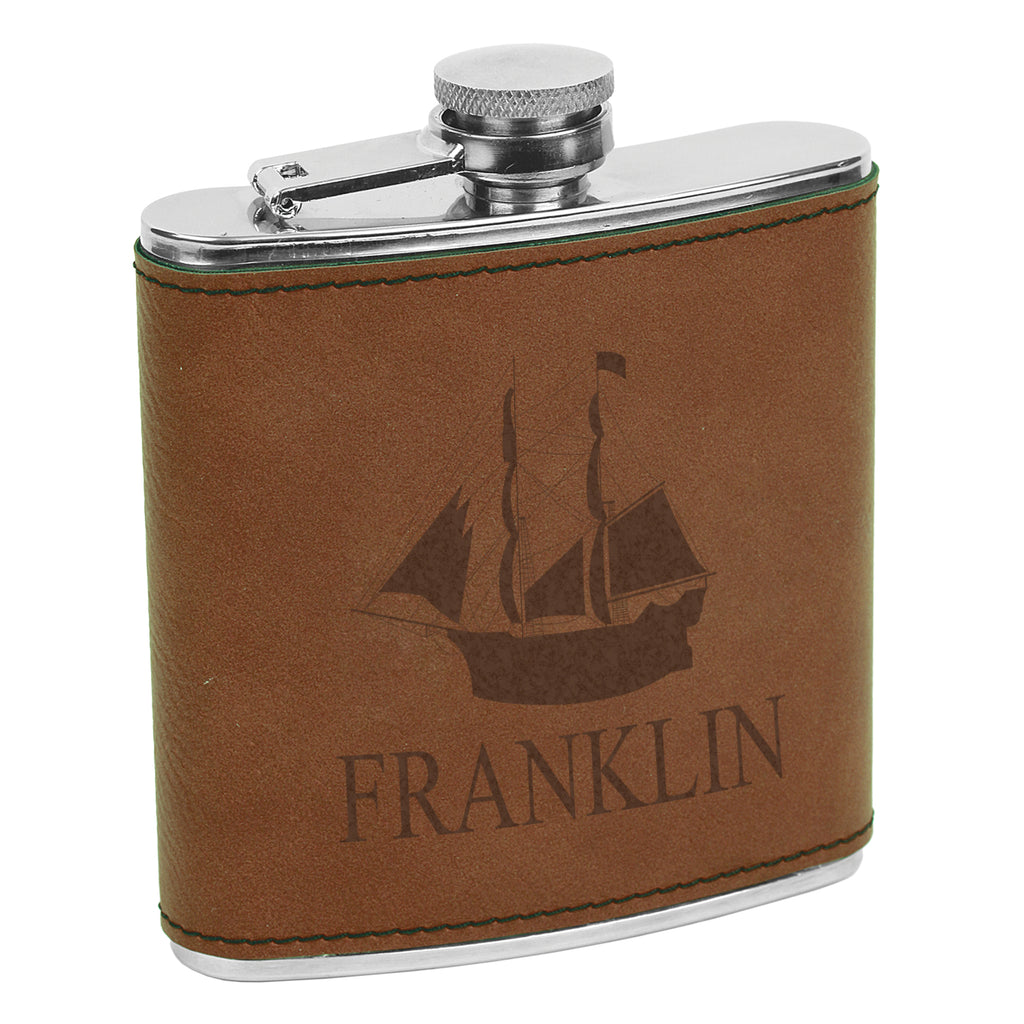 Customized Last Name Flask, Ship Captain Flask, Custom Flask, Personalized Flask