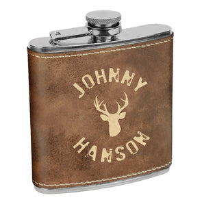 Deer Flask, Custom Name Flask, Groomsman Flask, Custom Flask, Personalized Flask