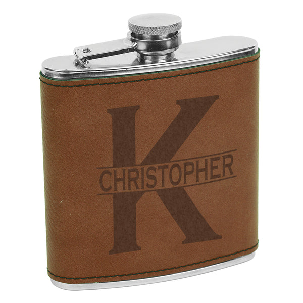 Flask with initial & name, Custom Initial Order, Custom Flask, Personalized Flask