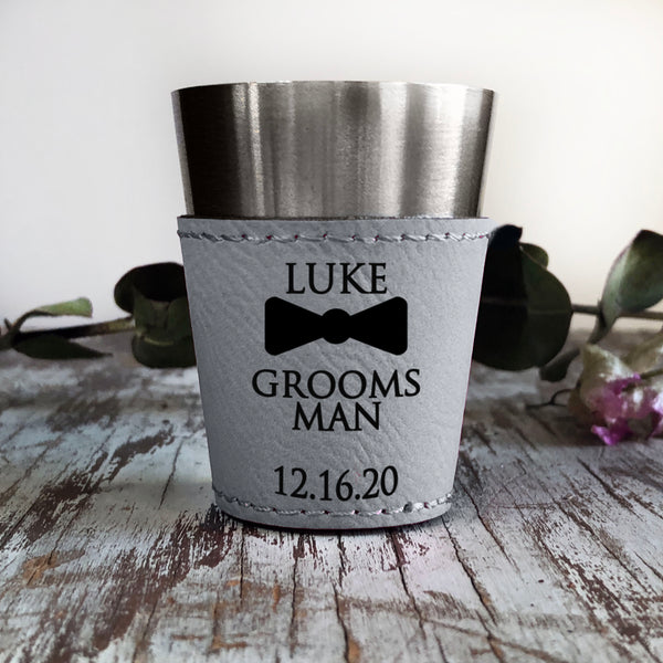 Personalized Shot Glass, Custom Shot Glass, Grooms Gift