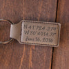 "Personalized Engraved Key Chain - ""Latitude & Longitude"""