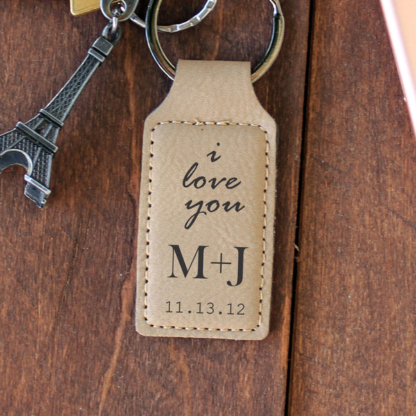 "Personalized Engraved Key Chain - ""I Love You"""