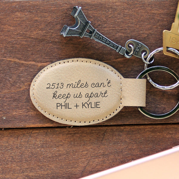 "Personalized Engraved Key Chain - ""Phil & Kylie"""