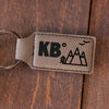 "Personalized Engraved Key Chain - ""KB Mountains"""