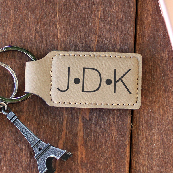 "Personalized Engraved Key Chain - ""JDK"""