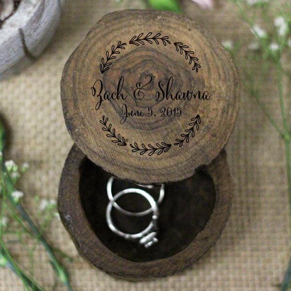 Personalized Ring Box In Cursive