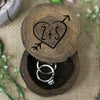 Personalized Ring Box With Initials In Heart