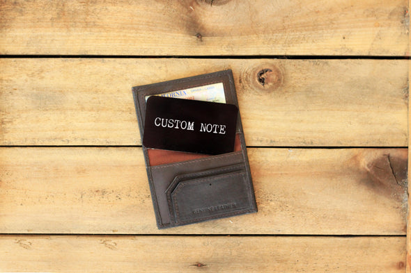 Wallet Note Insert - Custom Note
