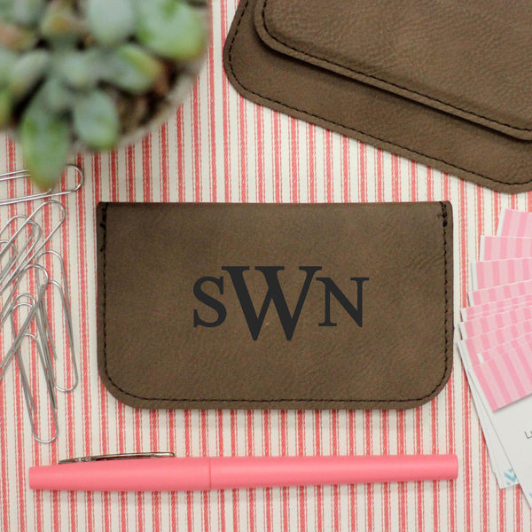"Business Card Holder Name ""SWN Monogram"""