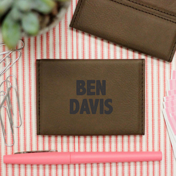"Business Card Holder ""Ben Davis Bold Font"""