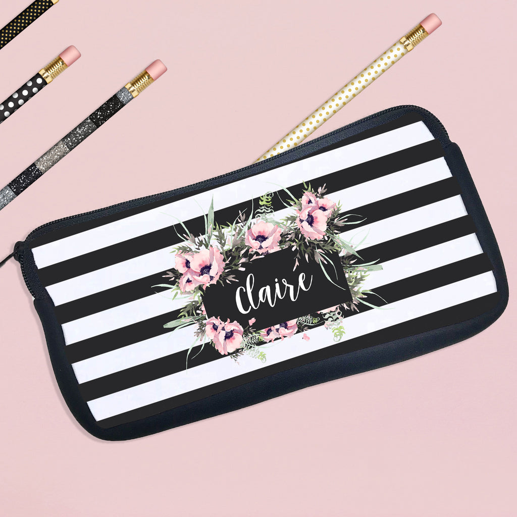 Personalized Pencil Case Floral Design