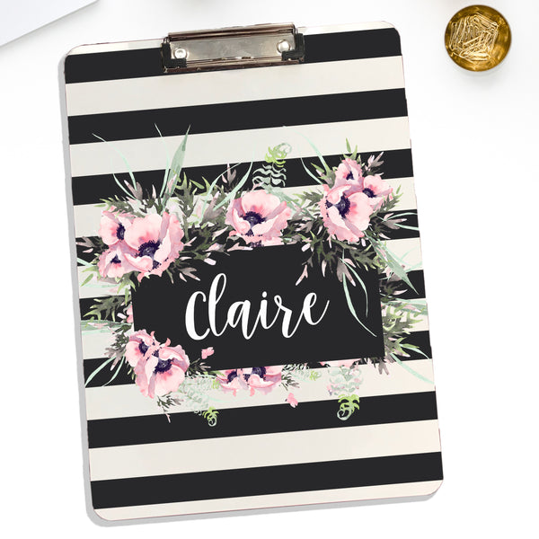 Floral Design Personalized Clipboard