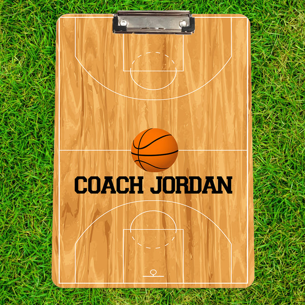 Personalized Basketball Coach Clipboard
