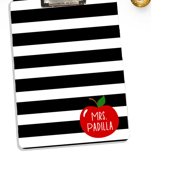 Teacher Clipboard With Personalized Apple