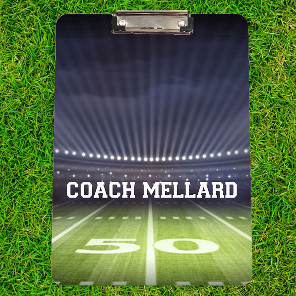 Personalized Football Coach Clipboard