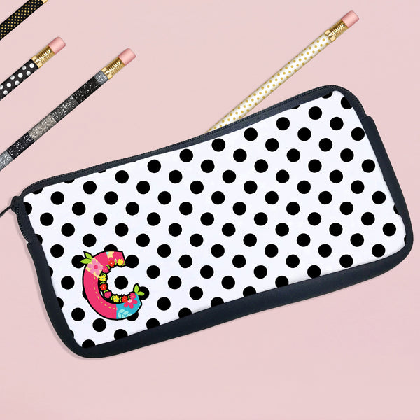 Personalized Pencil Case Letter Initial