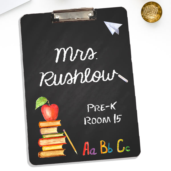 Personalized Teachers Clipboard With Name In Chalk