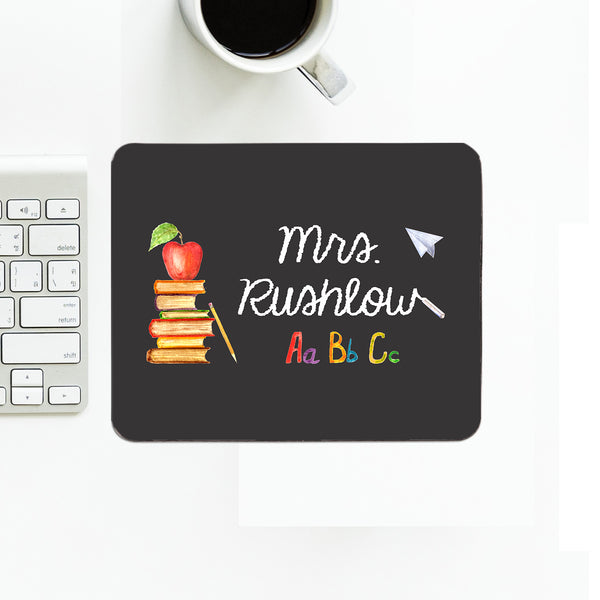 Personalized Teacher's Mouse Pad With Name