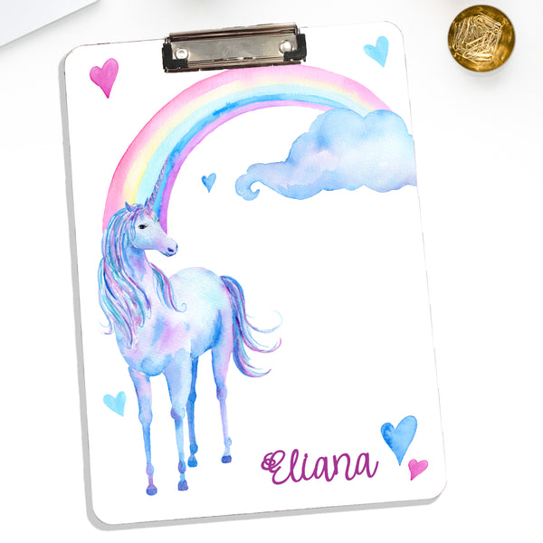 Personalized Clipboard Unicorn Theme