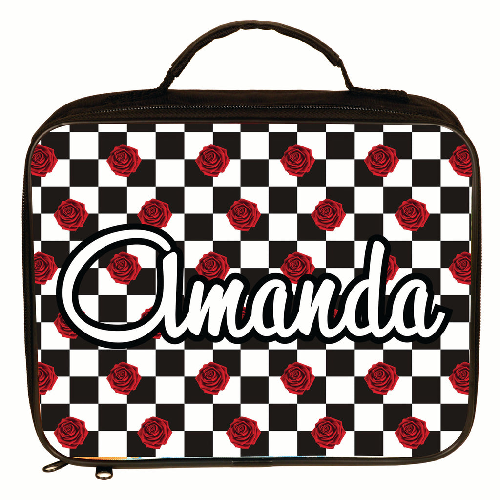Custom Checkers & Roses Lunch Pail for Kids