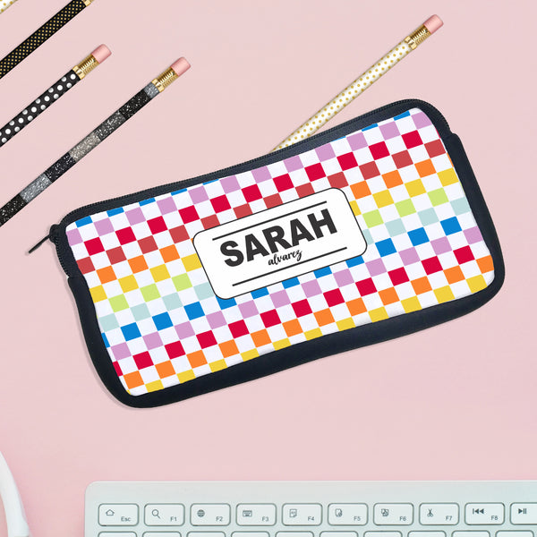 "Personalized Pencil Case, Custom Pencil Case, Pencil Bag, ""Sarah Alvarez"""