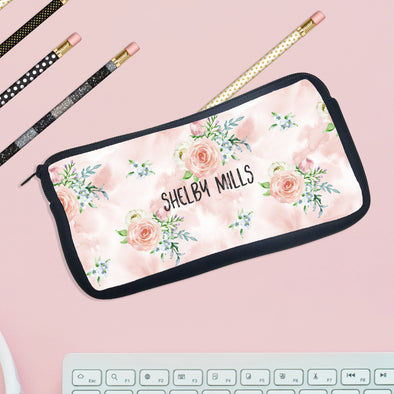 "Personalized Pencil Case, Custom Pencil Case, Pencil Bag, ""Shelby Mills"""