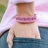 "Personalized Leatherette Kids Cuff Bracelet ""She believed she could so she did"""