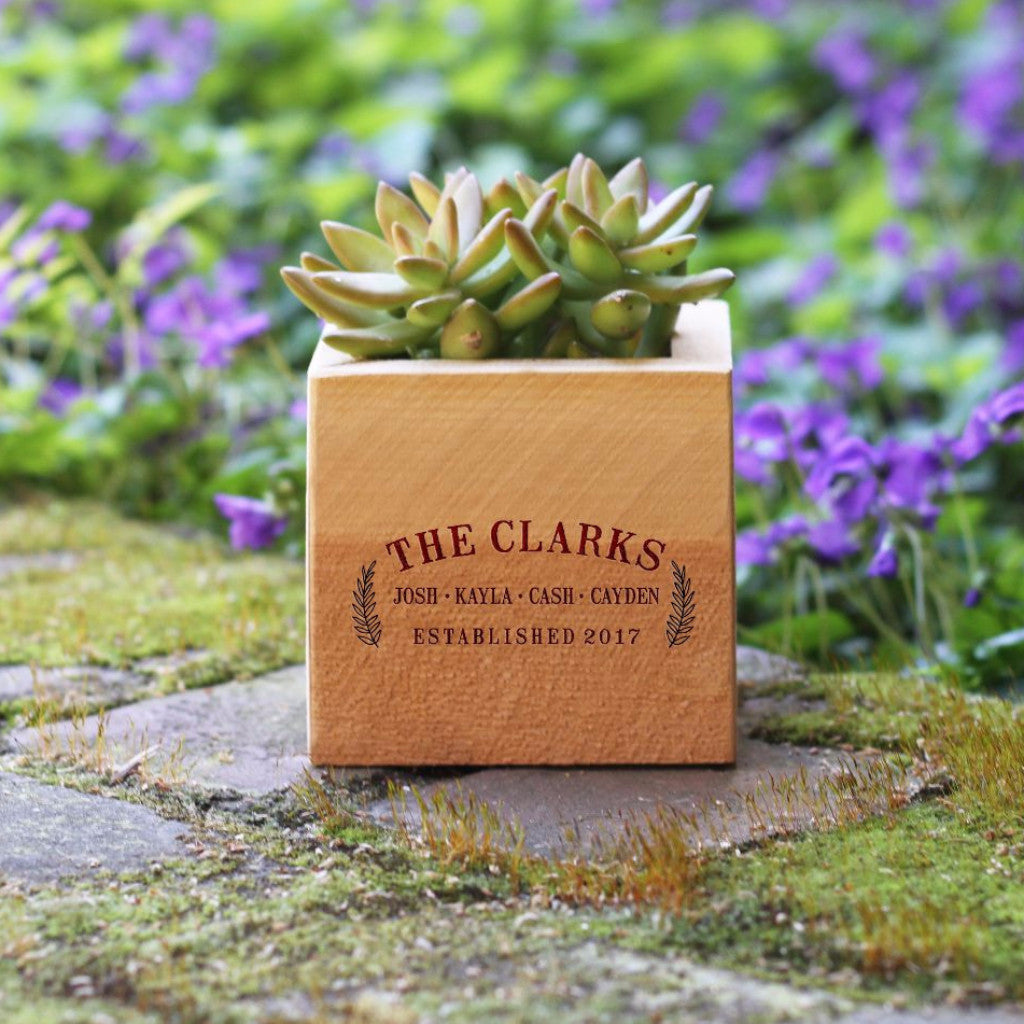 "Flower Box - ""Family Name Established"""