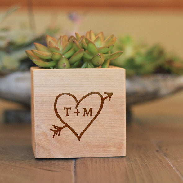 "Flower Box - ""Heart With Initials"""