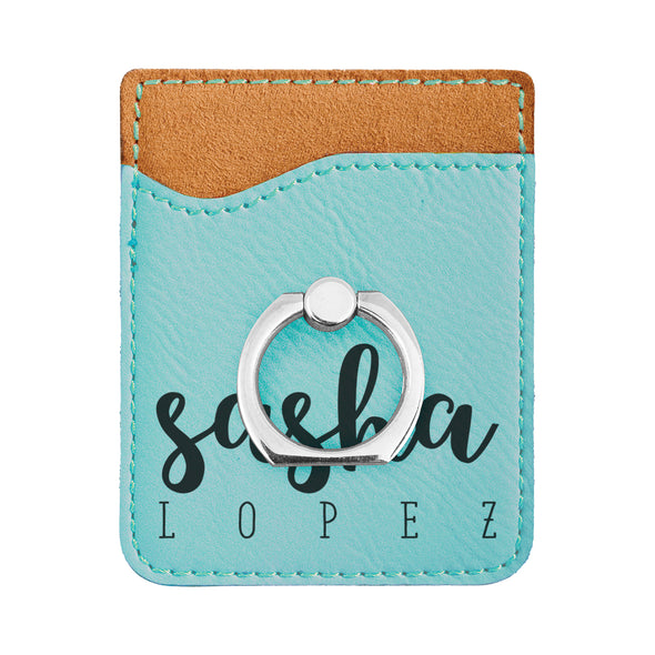 Personalized First Name Phone Wallet, Custom Engraved Phone Wallet, Cell Phone Wallet with Stand, Credit Card Holder, Phone Pocket, Card Caddy, iPhone Wallet Case, Card Holder, Cell Phone Caddy
