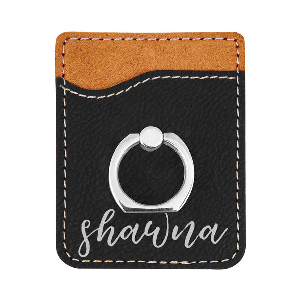 Personalized First Name Phone Wallet, Custom Engraved Phone Wallet, Cell Phone Wallet with Stand, Credit Card Holder, Phone Pocket, Card Caddy, iPhone Wallet Case, Card Holder, Cell Phone Card