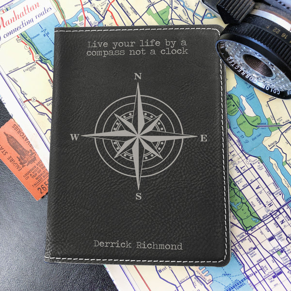 Custom Passport Holder, Engraved Passport Cover