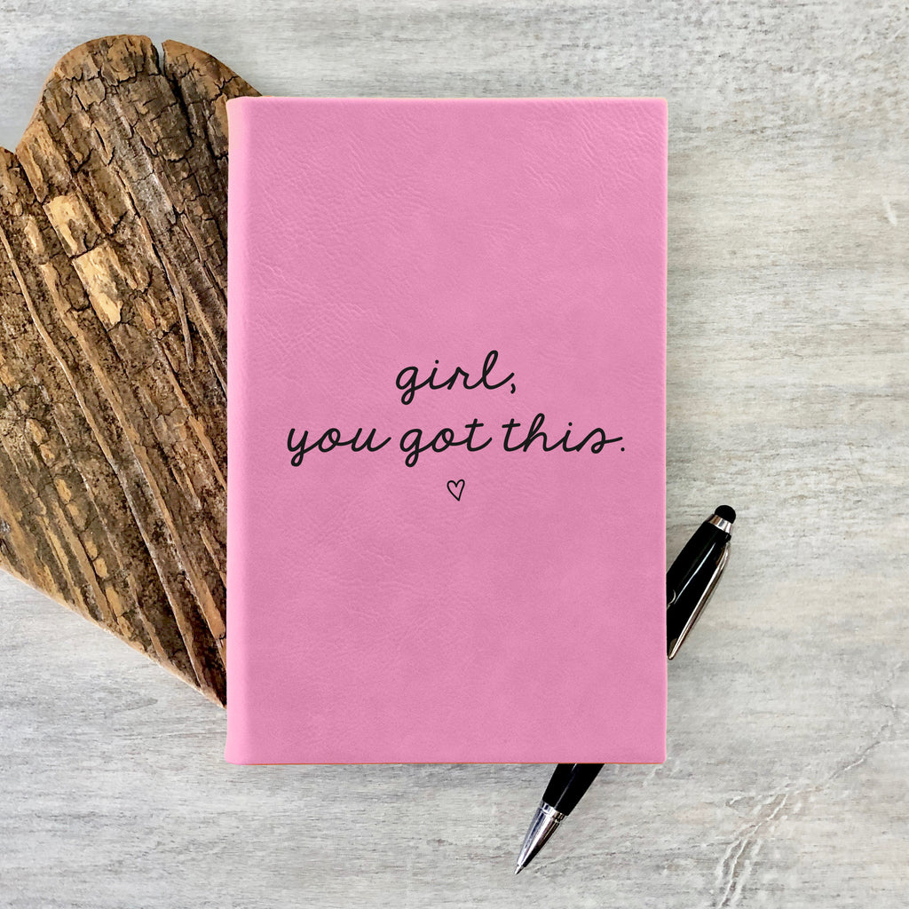 "Custom Journal, Cute Journal, Personalized Journal ""Girl, You Got This"""