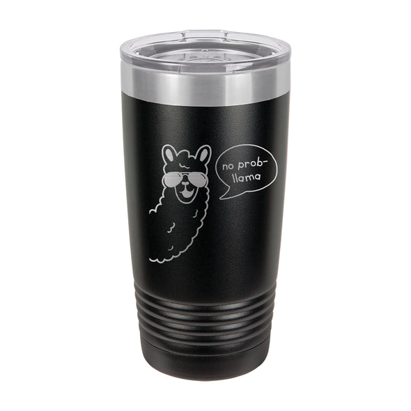 "Insulated Cup, Insulated Thermos, Travel Cup, Personalized Cup, Custom Thermos ""No Prob Llama"""