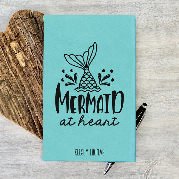 "Custom Journal, Cute Journal, Mermaid at Heart Personalized Journal ""Kelsey Thomas"""
