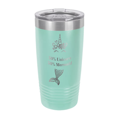 "Insulated Cup, Insulated Thermos, Travel Cup, Personalized Cup, Custom Thermos ""Unicorn Mermaid"""