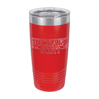 "Stranger Things Theme Insulated Cup, Insulated Thermos, Travel Cup, Personalized Cup, Custom Thermos ""Michael"""