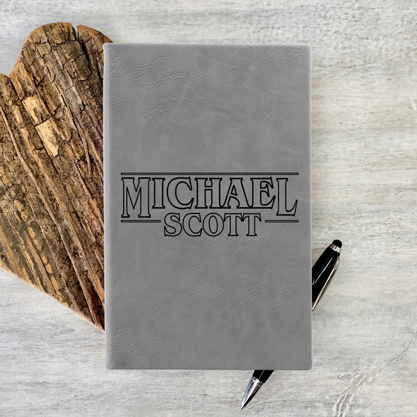 "Custom Journal, Cute Journal, Personalized Journal ""Michael Scott"""