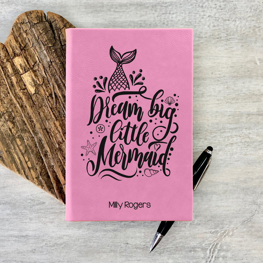 "Custom Journal, Cute Journal, Dream Big Little Mermaid Personalized Journal ""Milly Rogers"""