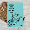 "Custom Journal, Cute Journal, Personalized Journal ""Let Your Faith Be Taller"""